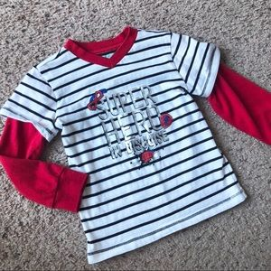 Wonder kids vneck long sleeve tee, 4T.